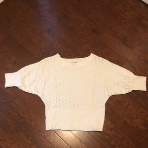 Size xl cream colored dolman sleeve sweater